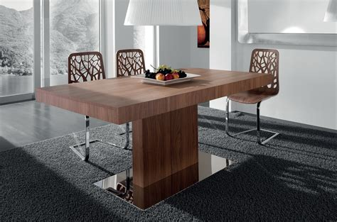 Modern Dining Table Designs Cool Modern Dining Room Furnishings Design With Brown Hardwood Rectangular Modern Dining Table