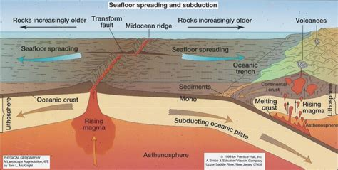 What Does Sea Floor Spreading models of tectonic activities earth