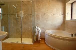 walk in shower and bath the private bathroom with bath and walk in shower little