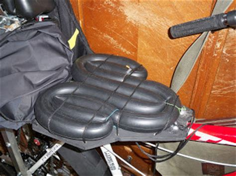 diy motorcycle seat upholstery motored bicycle hacks inner tube seat