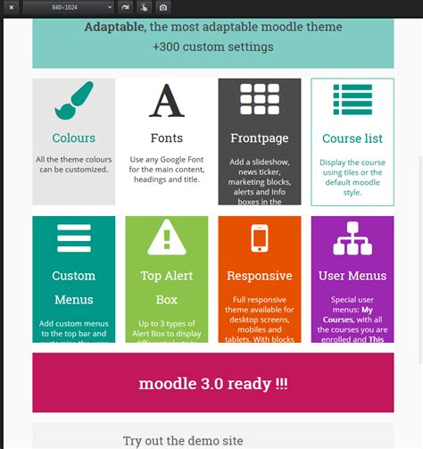 moodle theme adaptable moodle in english adaptable this support discussion is