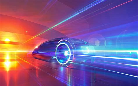 super colorful artwork fantasy art digital art car super car abstract colorful motion blur streaks