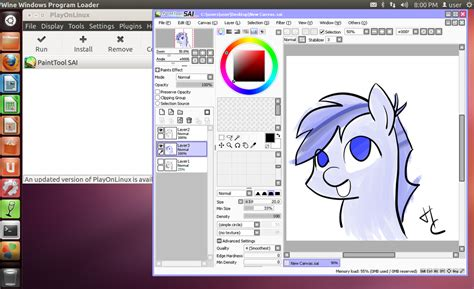 paint tool sai install paint tool sai on linux w pen pressure by