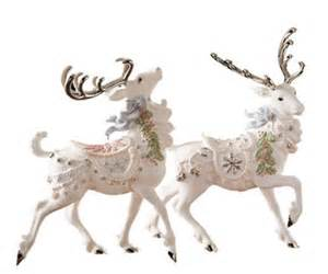 lenox platinum classic holiday reindeer figures