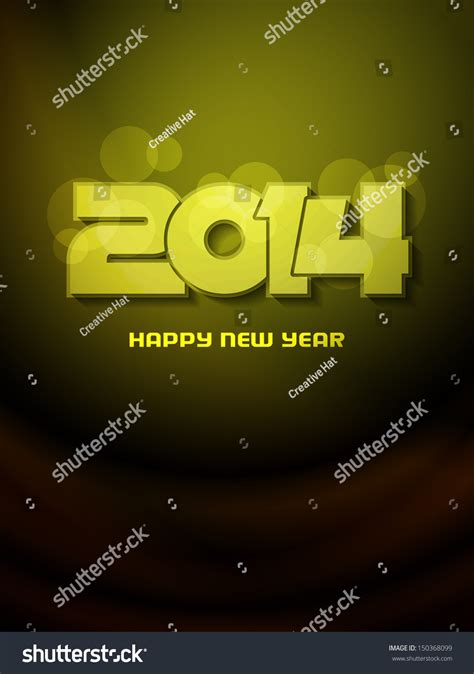 new year color green beautiful happy new year 2014 design on green color