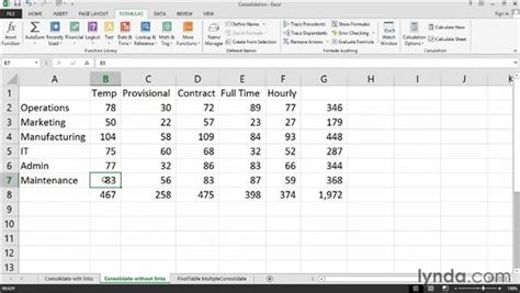 excel 2010 consolidate tutorial excel 2010 combine data from multiple workbooks