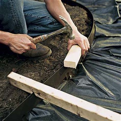 How To Fix A Swy Backyard by Install The Edging How To Lay A Gravel Path This House