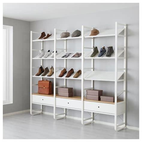 ikea elvarli review elvarli shoe cabinet white bamboo 245x40x216 cm ikea hallway