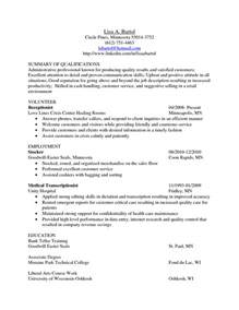 transcriptionist cover letter transcriptionist cover letter exles