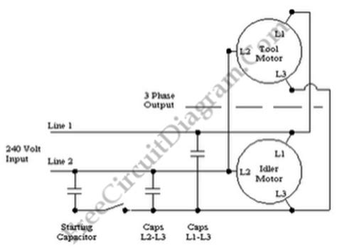 single phase to three phase converter circuit diagram 3 phase to single phase rotary converter circuit diagram world