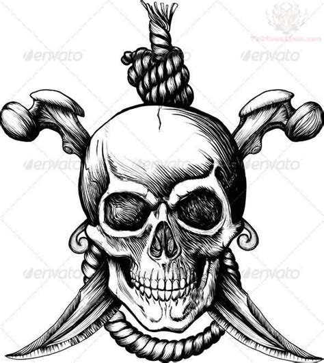 pirate pin up tattoo designs grey ink pirate skull design picture