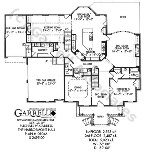 classic colonial floor plans harbormont hall house plan house plans by garrell
