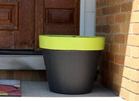 diy chalk paint terra cotta planters the organized
