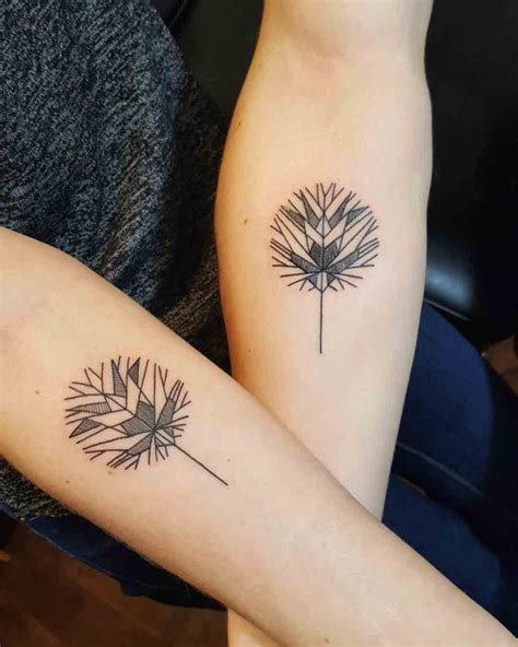 couple rose tattoo geometrical leaf tattoos for couple best tattoo ideas