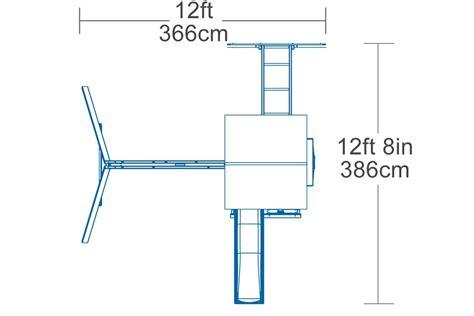 product layout diagram hazelwood climbing frame featuring swings slide monkey