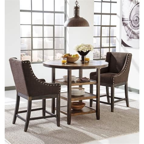 ashley furniture dinette sets dining tables bar height ashley moriann 3 piece round counter height dining set
