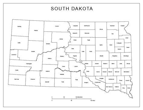 south dakota county map south dakota labeled map