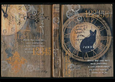 painting pages journal cover janni kretlow