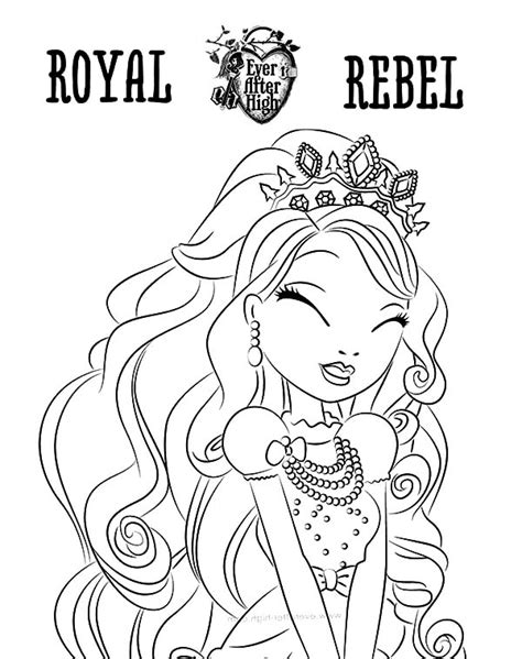 ever after high coloring pages rebels royal rebel ever after high coloring pages download