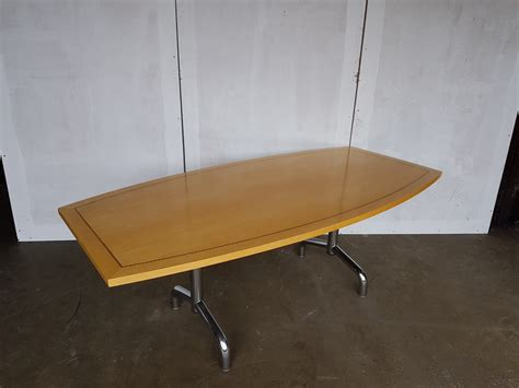 Boat Shaped Boardroom Table Tula Boat Shaped Boardroom Table Recycled Business