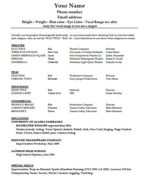 resume model word 28 images 6 resume model word format