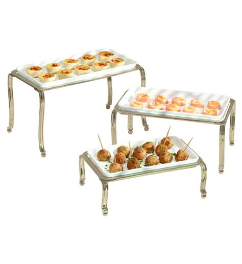 ceramic buffet trays satin set of 3 in buffet supplies