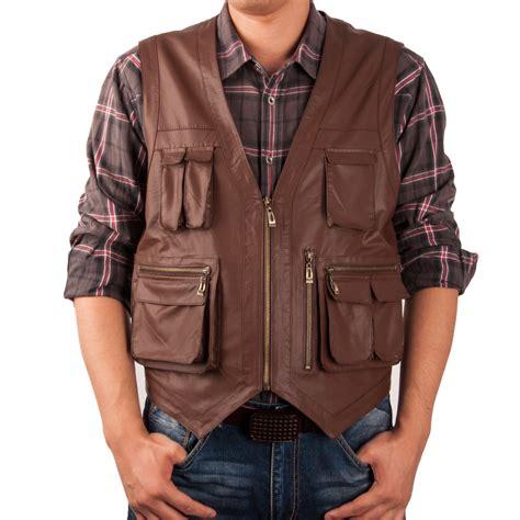 Faux Leather Vest chris pratt jurassic world faux leather vest vest