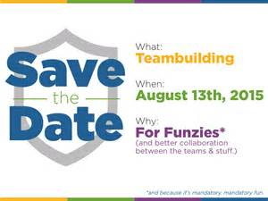 save the date card for teambuilding event by jess zak
