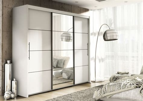 Inova White Sliding Door Wardrobe Slider Bedroom Furniture Bedroom Furniture Wardrobes Sliding Doors