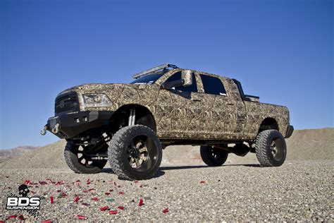 cummins truck sema trucks full flex customs camo cummins bds