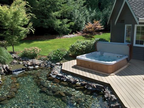 hot tub backyard ideas backyard hot tub ideas clearwater spas