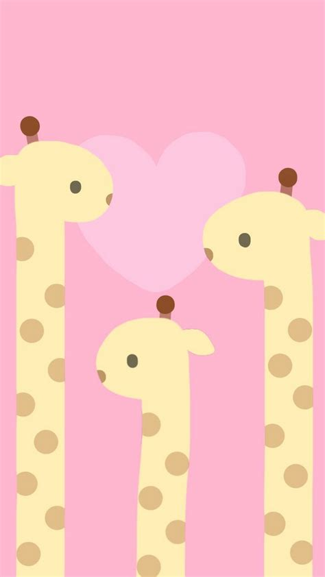 cute pink giraffe wallpaper iphone  cute wallpapers