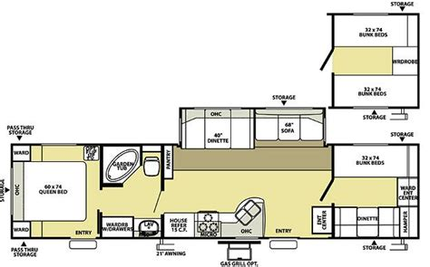 wildwood travel trailer floor plans 2008 forest river wildwood 36bhss travel trailer fremont