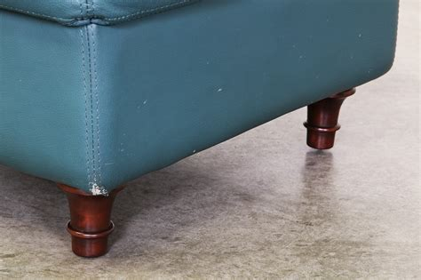 teal leather ottoman teal leather ottoman teal leather and chrome bench