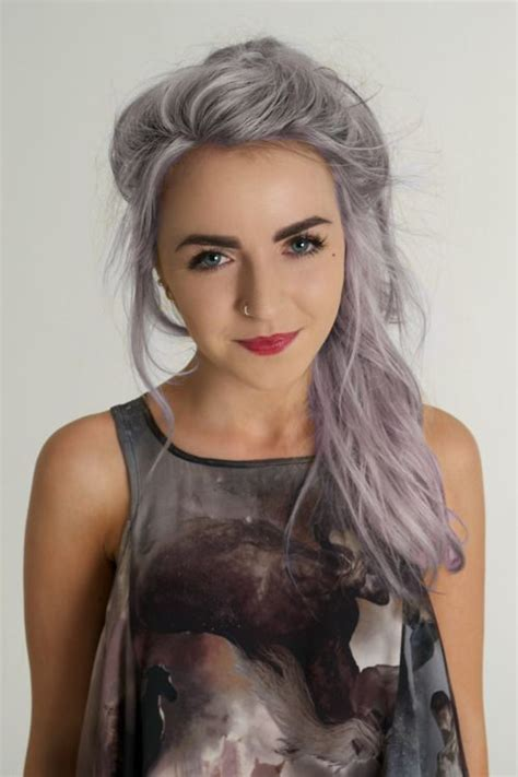 salt and pepper hair with lilac tips 17 best ideas about silver purple hair on pinterest