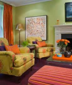 green and orange living room ideas house decor picture