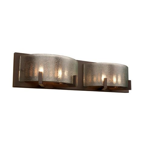Bronze Bathroom Light Fixture Shop Varaluz 2 Light Firefly Industrial Bronze Bathroom Vanity Light At Lowes