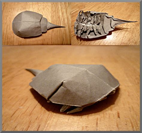 how to make an origami crab origami horseshoe crab by zapper slapper on deviantart