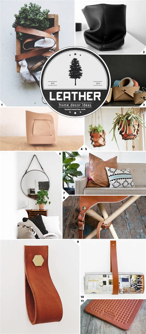 home decor ideas using leather home tree atlas