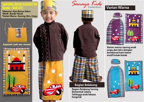Set Sarung Instan Anak sarung anak karakter cars
