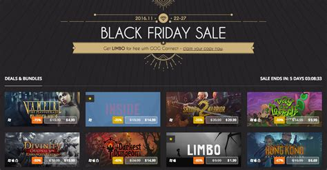 black friday wann gog black friday sale up to 85 pc and