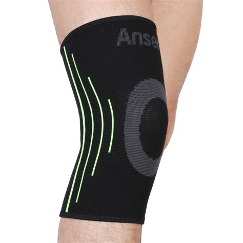 Ams Sport Knee Support Flypower anser elastic sports leg knee support brace wrap protector knee pads kneepads sleeve cap patella