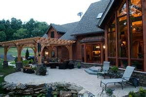 Dream Patio by Custom Home Timber Frame Dream Contemporary Patio