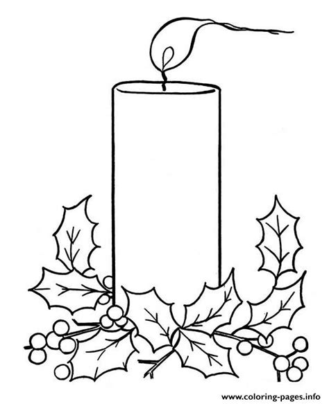coloring pages of christmas candles christmas candle coloring pages printable
