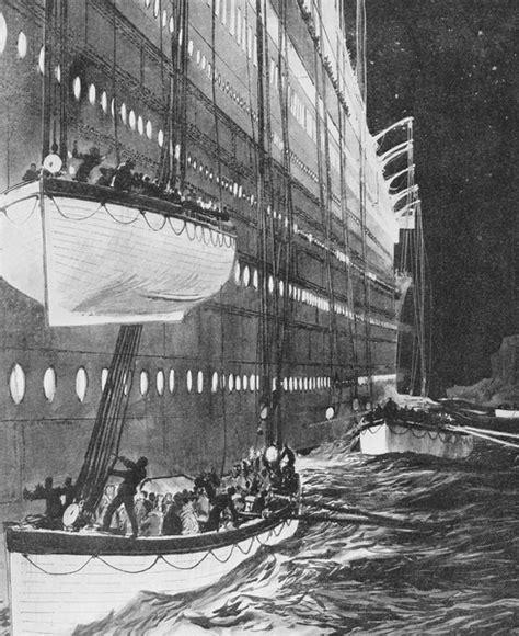 imagenes historicas del titanic fotos hist 243 ricas evacuaci 243 n del titanic titanic