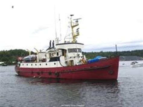 small fishing boats for sale ontario 1960 russel hipwell custom yacht steel converted ccg