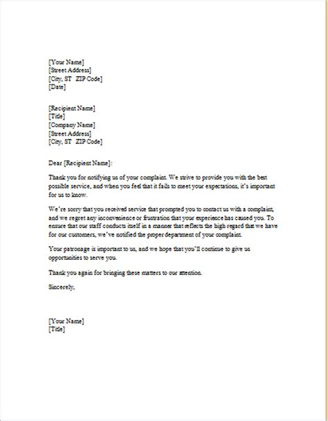 Apology Letter Regarding Service Laundry Service Apology Letter To Client Word Excel Templates