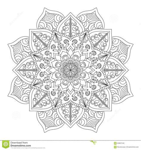 india pattern coloring page mandala vintage round ornament pattern islamic arabic