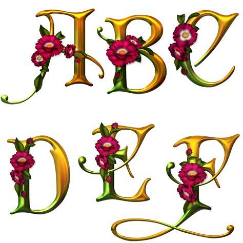 lettere alfabetiche render alphabet lettres fleurs caract 232 res autres
