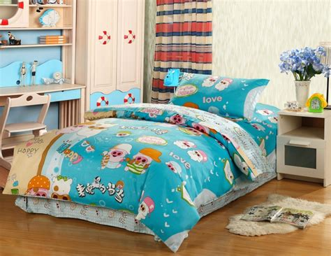 lovely pig with his friends 100 cotton comforter bedding